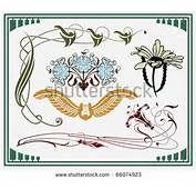 Of Historical Design Art Nouveau Based On Original Stock Vector