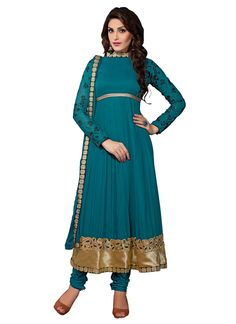 Teal Georgette Anarkali Suit