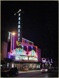 San Luis Obispo Night Lights  Fremont Theater - 1 Love Neon Sign, Neon Light Signs, Neon Signs, San Luis Obispo County, Places In America, Drive In Theater, Central Coast, Night Lights, California Travel