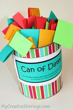 Can of dates. This is actually so cute; I love some of these ideas!