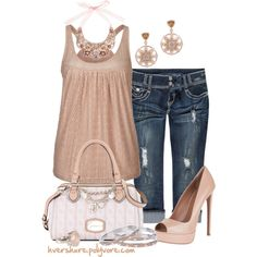 Dressed up Denim, created by hvershure on Polyvore