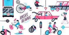 Monica Garwood. Bikers Beware. great work, love this girl.