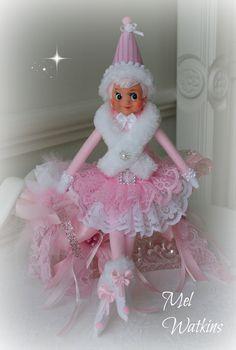 Vintage Pink Elf Pink knee hugger Mel Watkins Pink elves My Creations <3