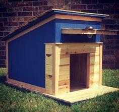 Wunderschöne Hundehütte zum selber bauen. #diy #hund #garten #love #design #holz #dog #garden