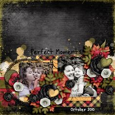 Perfect Moments layout by Scrapaholic09 using September Sun Kit
