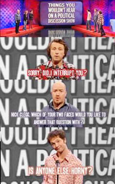 Things you wouldn't hear on a political discussion show | Mock the Week