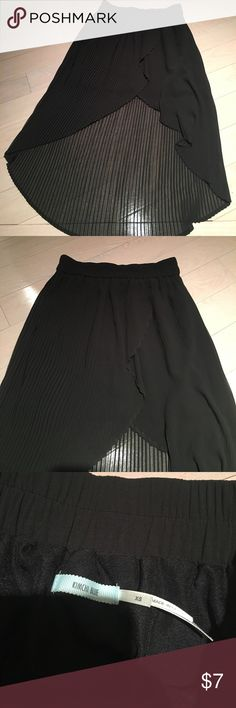 Pleated High Low Skirt Skirt is black and purchased from urban outfitters. Brand new never worn without tags. Urban Outfitters Skirts High Low