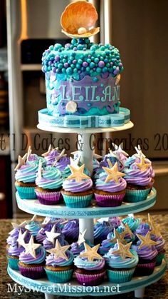 Our adorable Under the Sea Child's Party Theme Ideas from our granddaughter's birthday party gives you great ideas for your little mermaid's party! Mermaid Birthday Cakes, Little Mermaid Birthday, Little Mermaid Parties, Mermaid Cakes, Mermaid Party Food, Baby Mermaid, 1st Birthday Parties, Birthday Party Decorations, Birthday Ideas