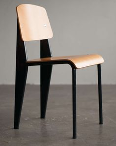 Standard chair, Jean Prouvé, first re-edition by Vitra in beech. | From a unique collection of antique and modern chairs at http://www.1stdibs.com/furniture/seating/chairs/.980/chair
