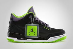Air Jordan III Black/Electric Green
