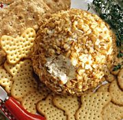 LION HOUSE FESTIVE CHEESE BALL, This has been a family favorite eversince we became a family.  I remember making this for my office Christmas party thinking I was so fancy. :-)