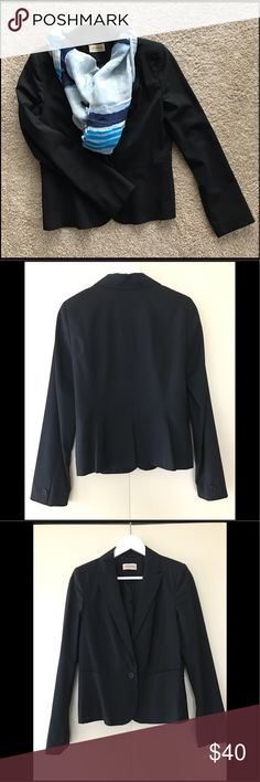 Black Blazer from Uta Raasch Timeless black blazer with one Button. Only worn once, like new. Jackets & Coats Blazers