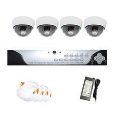 "Complete 4 Channel CCTV DVR (1T HDD) Surveillance Video System Package with (4) x 680 TV Line 1/3"" Sony CCD Color Night Vision Indoor Security Camera by Gw. $755.00. Package includes:      GW9104V - 4 channel network DVR with 1T HDD;     CD with manual and software;      4 x GW804L - 1/3"" SONY CCD Color Night Vision Camera;     1 x GW100CAW: 100 feet pre-made cable BNC;     2 x GW60CAW: 60 feet pre-made cable BNC;     1 x GW25CAW: 25 feet pre-made cable BNC;     1 x GW12V7A:..."