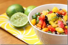 Mexican Couscous with Mango, Black Beans, and Avocado