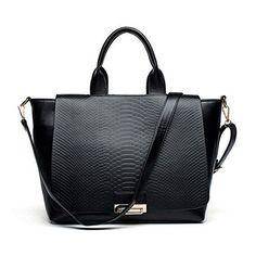 ZENTEII Women Faux Pu Synthetic Leather Handbag Satchel Shoulder Bag >>> Read more  at the image link.
