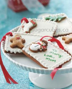 Edible gift tags. Cute idea. This is a website that sells these, but certainly an easy DIY project!