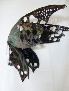 Custom order solid painted iridescent wings by CroneDesigns, $160.00