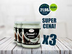 Super pakiet 3 w cenie 2. Super cena! Olej kokosowy rafinowany. Sprawdź! #healthyfood