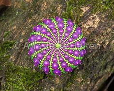Mandala steen, hand geschilderd