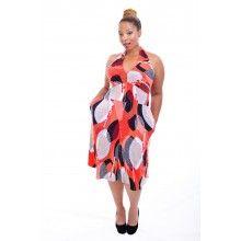 Lillian Coral Knit Dress