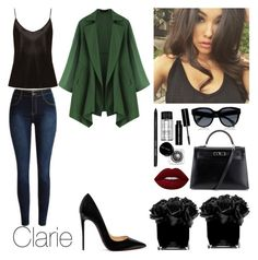 """""""#742"""" by infinito1 ❤ liked on Polyvore featuring La Perla, Christian Louboutin, Hermès, Hervé Gambs, Bobbi Brown Cosmetics and Lime Crime"""