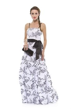 Vestido longo em tafetá com estampa de cashemire. Cod. 101614   #zumzum #zumzumfesta #vestido #festa #vestidodefesta #dress #partydress