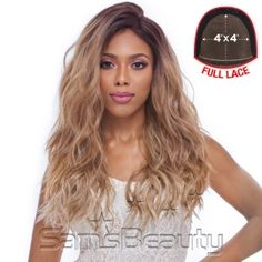 Hair Color Showsn: SGD4276A  HARLEM125 SYNTHETIC HAIR LACE FRONT WIG 4X4 SWISS SILK BASE FLS11