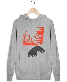 Grumpy Moose - Fox & Velvet - Männer Hoodie Hoodies, Sweatshirts, Moose, Fox, Velvet, Grey, Sweaters, Fashion, Gray