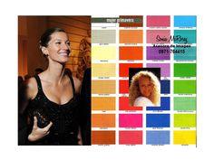 Ejemplo Mujer Primavera y su paleta de mejores colores a nivel general, esta estación se subdivide en: Primavera Suave, Cálida, Clara y Brillante