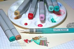 """""""watercoloring"""" with copics"""