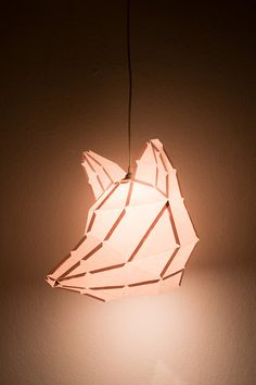 Fox Large - do it yourself paper lampshade.