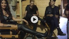 """7/10/15: Cassie's set visit.  Cassandra Clare: """"My Shadowhunter babies :)""""  Another pic of a video that has yet to be posted"""