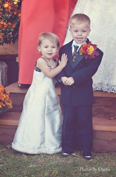 Flower Girl and Ring Bearer......Adorable!    #photography #wedding #bridal