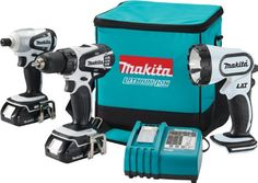 $228.55-$544.00 Makita LCT300W 18-Volt Compact Lithium-Ion Cordless 3-Piece Combo Kit -  http://www.amazon.com/dp/B000V2BRM2/?tag=pin2pet-20