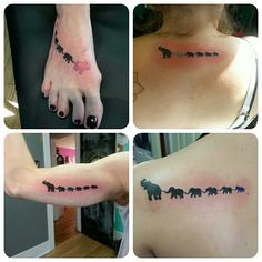 4 of the 6 family members got a chain of elephants today, the different colors…