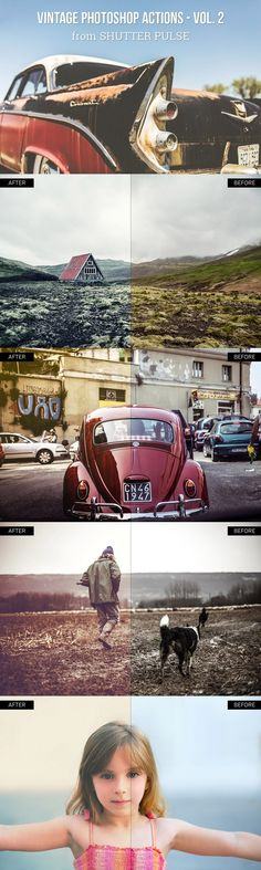 Vintage Photoshop Actions - Vol. 2. Actions. $7.00