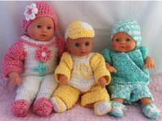 "Maggie's Crochet · Carly, Cliff and Cody 12-15"" Doll Outfits Set 1 Crochet Pattern"