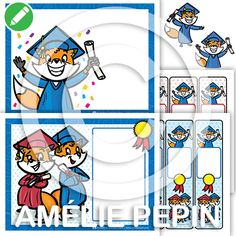 Diplomes / Diplomas Microsoft Word, Amelie Pepin, Orient, Playing Cards, Creations, Bookmark Template, Conflict Resolution, School Equipment, End Of Year