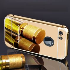 >> Click to Buy << 6 6s plus luxury fashion frame back cover case for apple iphone 6plus 6splus 5.5 by 24k gold mirror acrylic phone cover cases #Affiliate