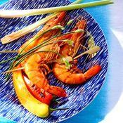 Brochettes de crevettes thaïes - une recette Barbecue - Cuisine