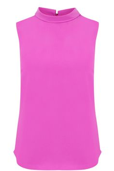 Give your working wardrobe some wow with this chic sleeveless top. We love the Sixties-inspired collared neck. You'll love wearing it with a short A-line skirt or even a pair of skinnies. Fashion Today, Fashion Online, A Line Skirts, Collars, Basic Tank Top, Street Style, Skinny, Inspired, Shorts