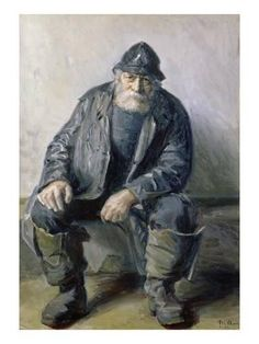 Draw People Giclee Print: Michael Peter Ancher Poster by Michael Peter Ancher : - Skagen, Old Fisherman, Human Figure Drawing, Sea Captain, Cultura Pop, Drawing People, Strand, Art History, Painting & Drawing