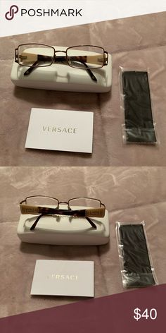 e9c429cd4aa9 EUC Versace Frames Case Cloth Book These are used