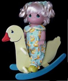 Precious Moments ~ Giddy Up Ducky! Doll and Rocking Horse Duck Precious Moments Dolls, Make You Smile, Horses, In This Moment, Make It Yourself, Horse