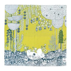 Moomin design in what looks like a scarf