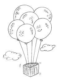 Image Coloriage Ballon De Baudruche - Free To Print