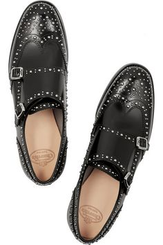 Church's | Lana Met monk-strap studded leather brogues | NET-A-PORTER.COM