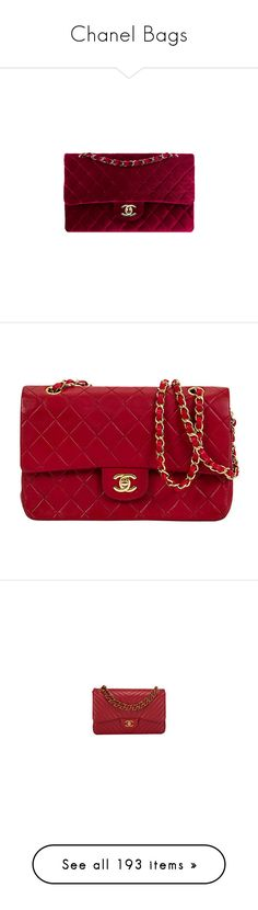 """""""Chanel Bags"""" by sakuragirl ❤ liked on Polyvore featuring bags, chanel, bolsas, handbags, purses, clutches, accessories, chanel purse, red quilted handbag and burgundy purses"""