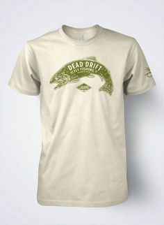 Fly Fishing T shirt for men Vintage Trout original by Dead Drift Fly Fishing Apparel