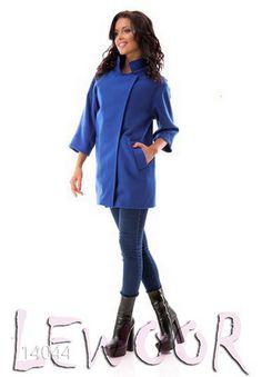 Кашемировое короткое пальто прямого покроя - купить оптом и в розницу, интернет-магазин женской одежды lewoor.com